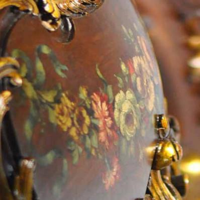 Decorazione foglia d'oro fregi